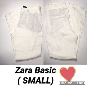 White Zara basic Pant